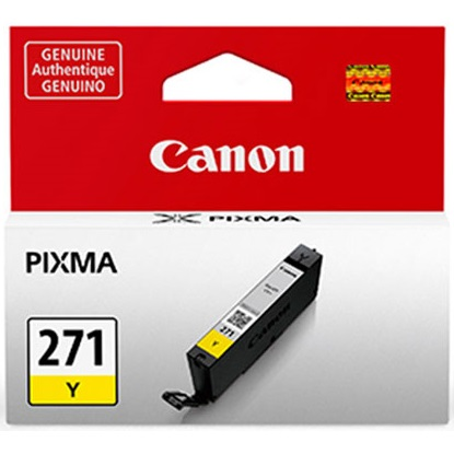 CLI-271 Y Ink Cartridge - Canon Genuine OEM (Yellow)