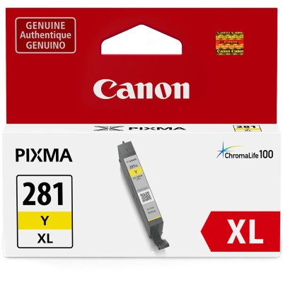 CLI-281XL Y Ink Cartridge - Canon Genuine OEM (Yellow)