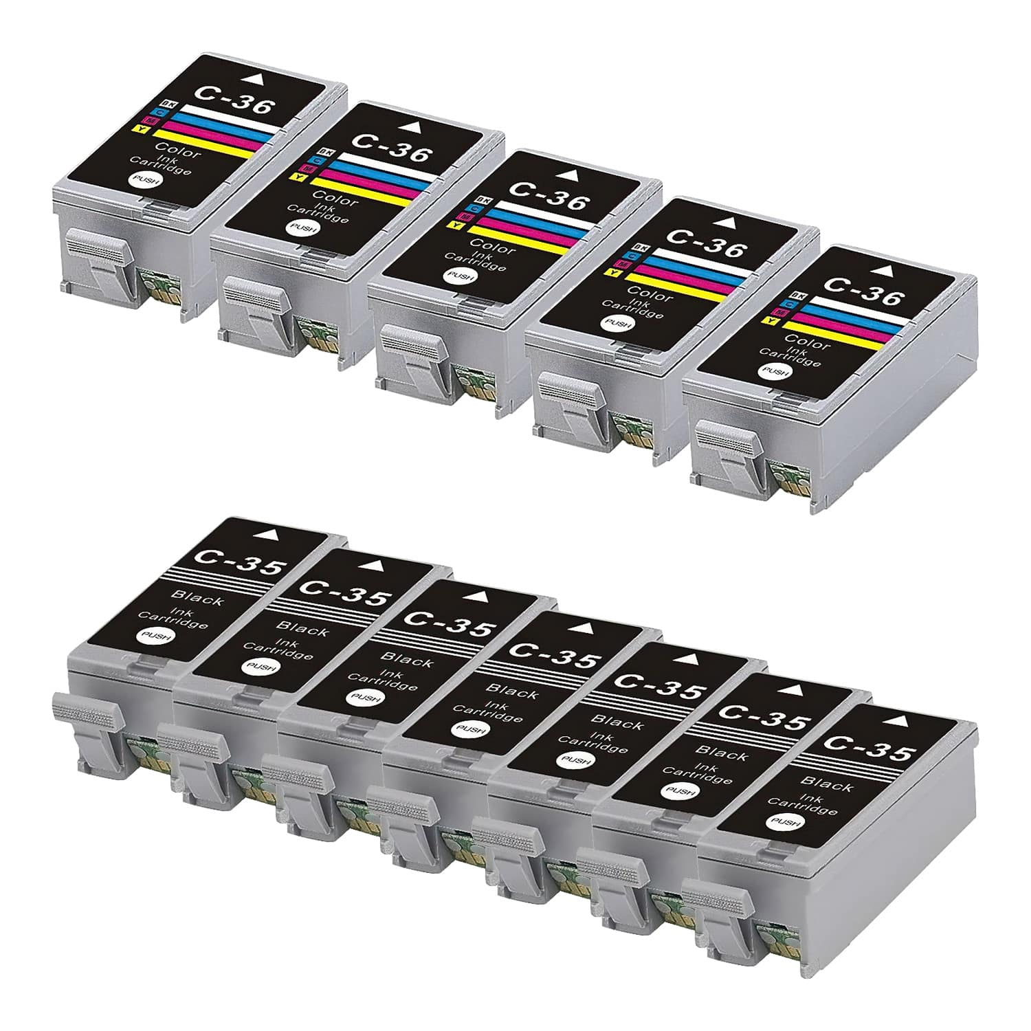 Compatible Canon CLI-36-PGI-35 Inkjet Pack - 12 Cartridges
