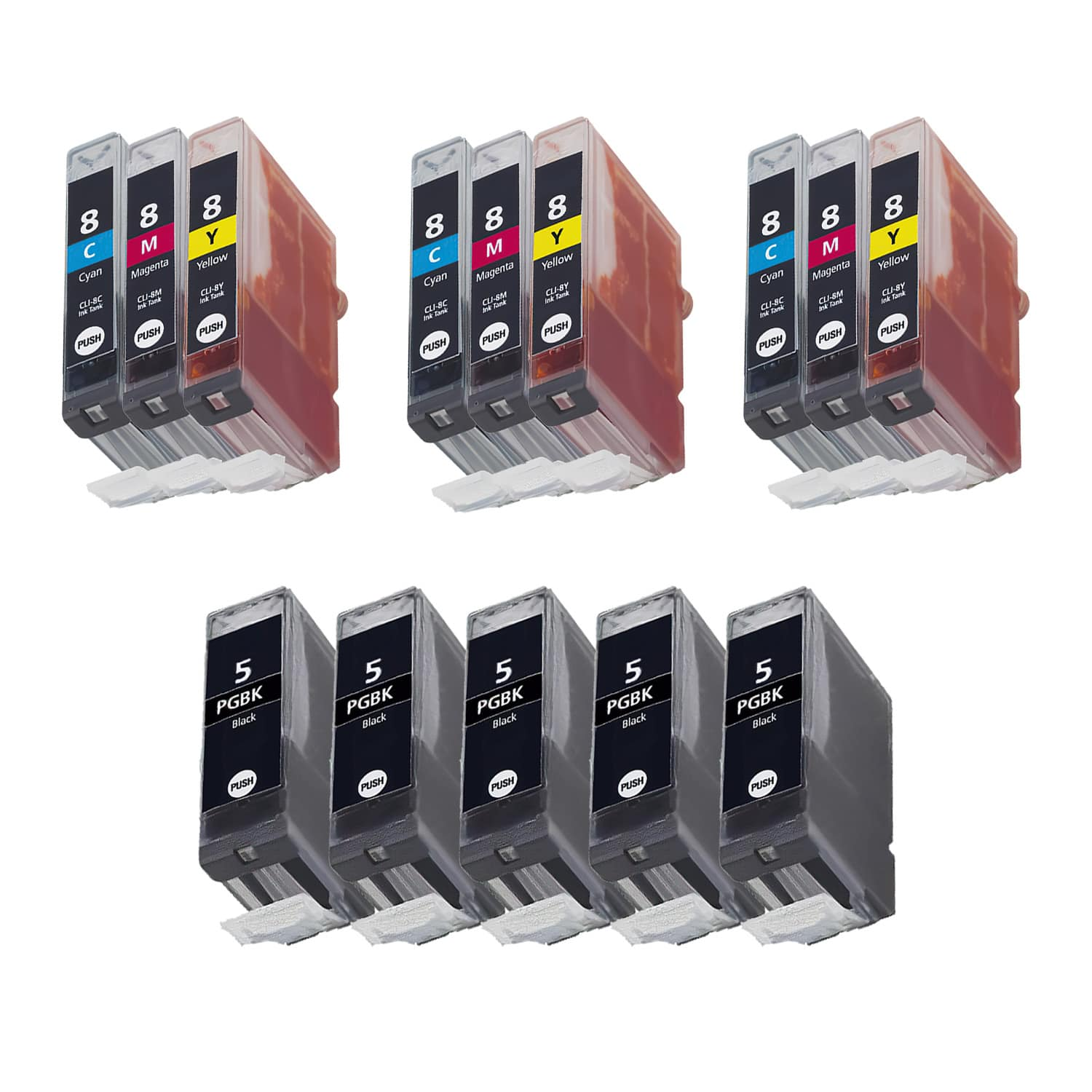 Compatible Canon CLI-8-PGI-5 Inkjet Pack - 14 Cartridges