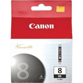 CLI-8BK Ink Cartridge - Canon Genuine OEM (Black)