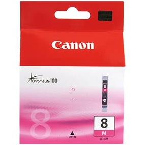 CLI-8M Ink Cartridge - Canon Genuine OEM (Magenta)
