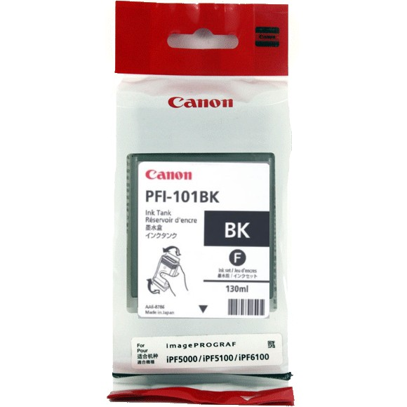PFI-101Bk Ink Cartridge - Canon Genuine OEM (Black)