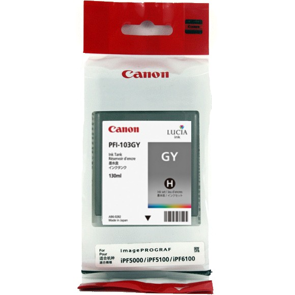 PFI-101GY Ink Cartridge - Canon Genuine OEM (Gray)
