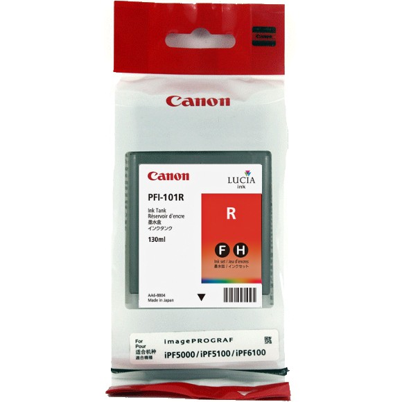 PFI-101R Ink Cartridge - Canon Genuine OEM (Red)