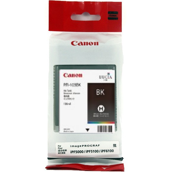 PFI-103BK Ink Cartridge - Canon Genuine OEM (Black)
