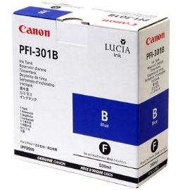 PFI-301B Ink Cartridge - Canon Genuine OEM (Blue)