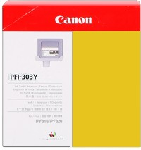 Genuine Canon PFI-303Y Yellow Ink Cartridge