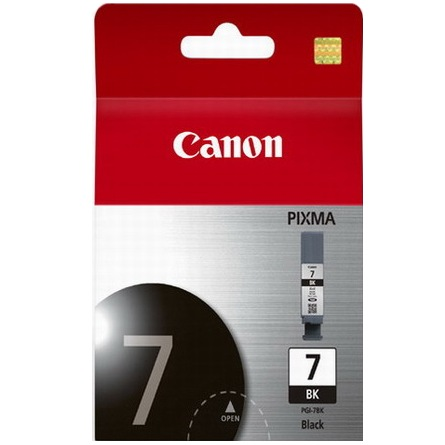 PGI-7BK Ink Cartridge - Canon Genuine OEM (Black)