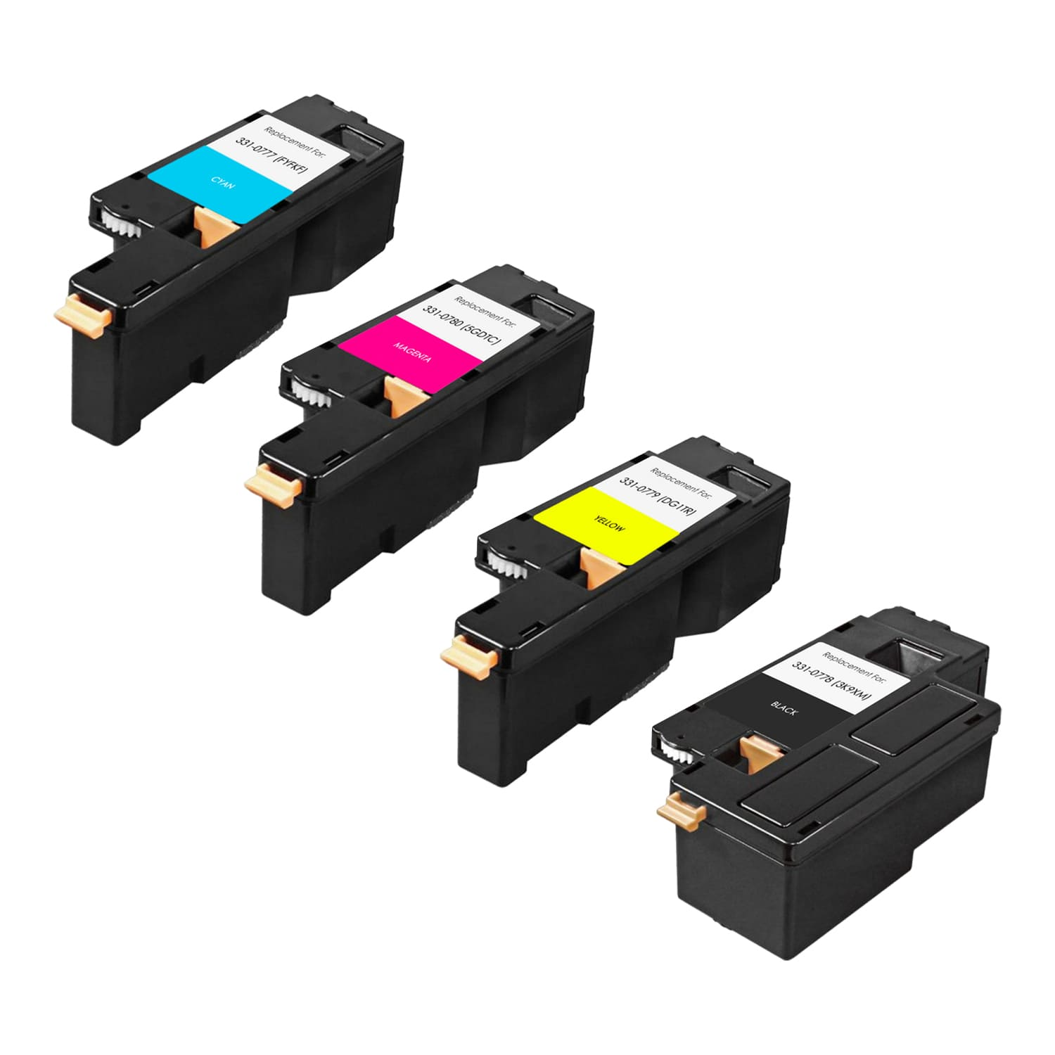 Compatible Dell 1250 Toner High Capacity Pack - 4 Cartridges