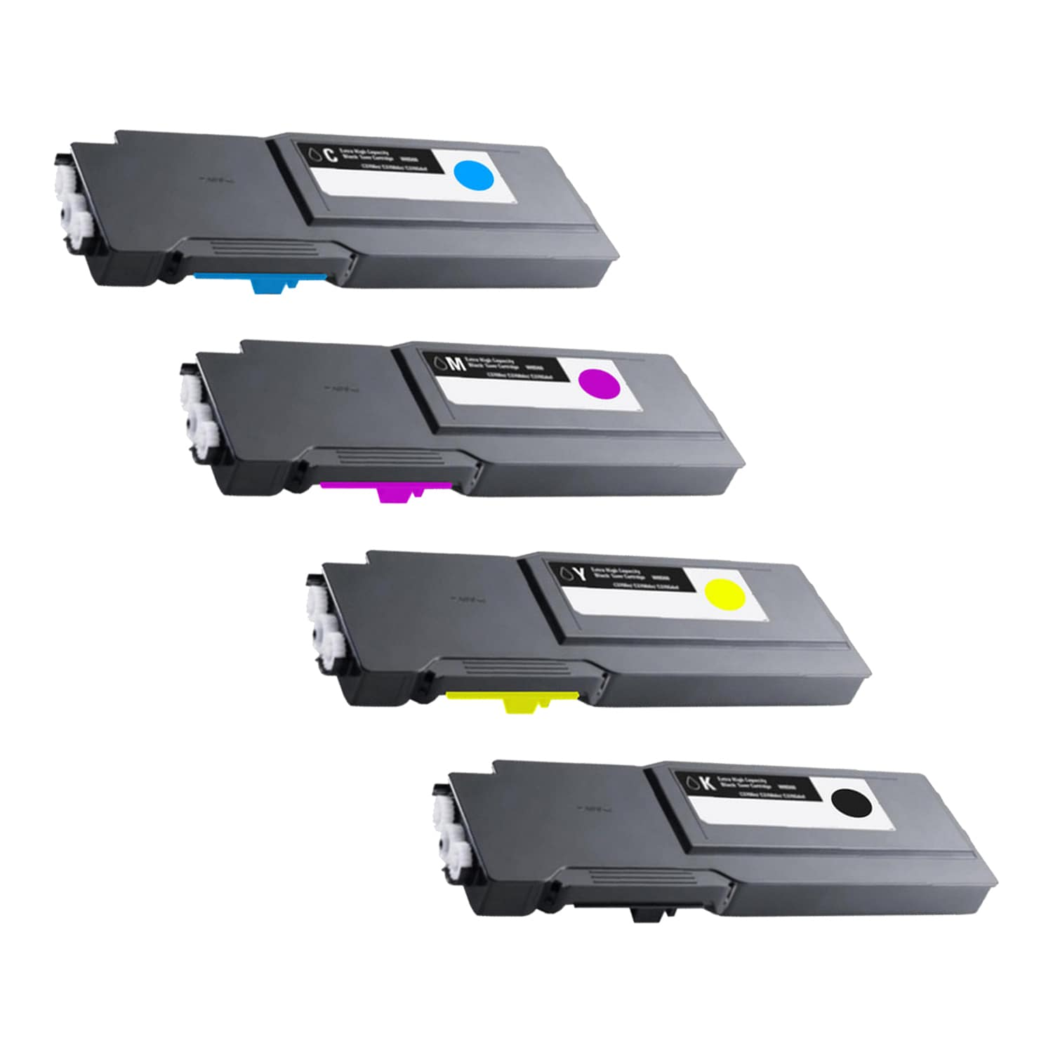 Compatible Dell C3760-C3765 Toner Extra High Capacity Pack - 4 Cartridges