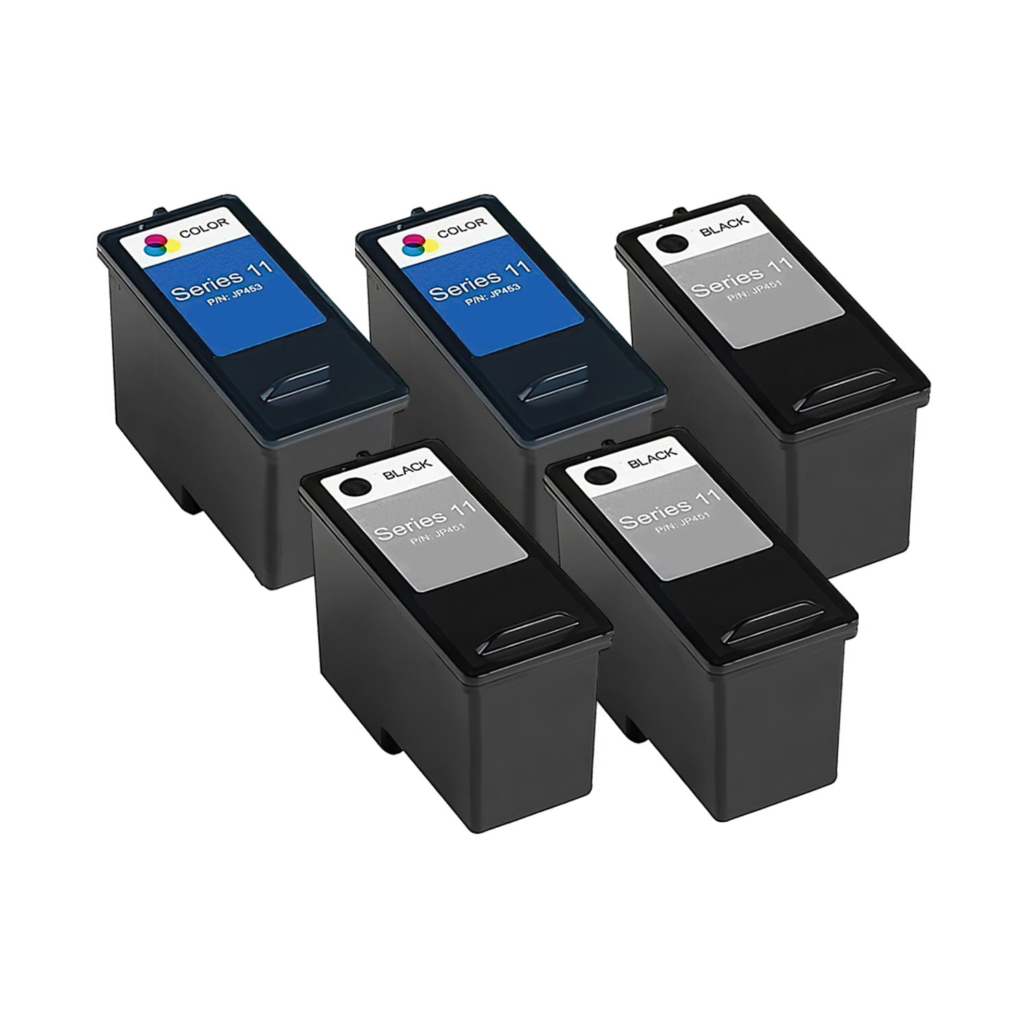 Remanufactured Dell Series 11 Inkjet High Capacity Pack - 5 Cartridges