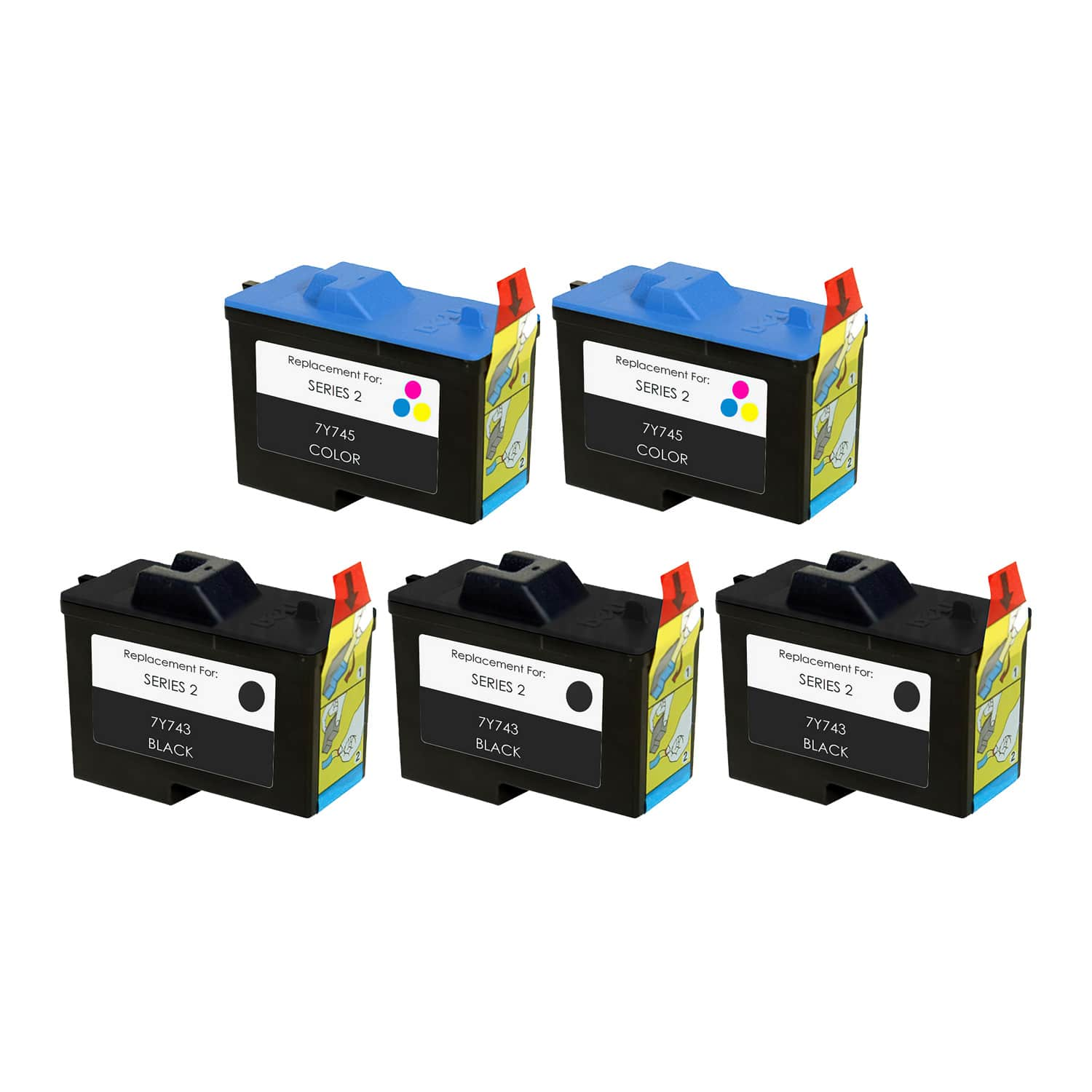 Remanufactured Dell Series 2 Inkjet Pack - 5 Cartridges