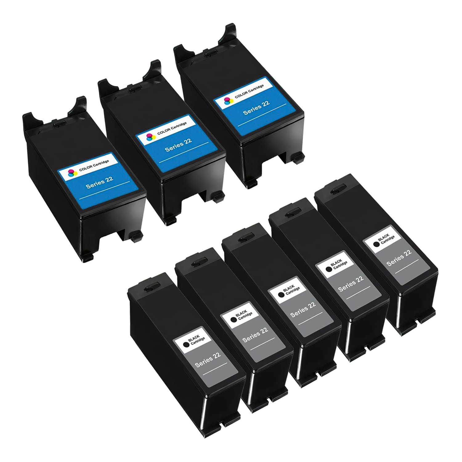Compatible Dell Series 22 Inkjet High Capacity Pack - 8 Cartridges