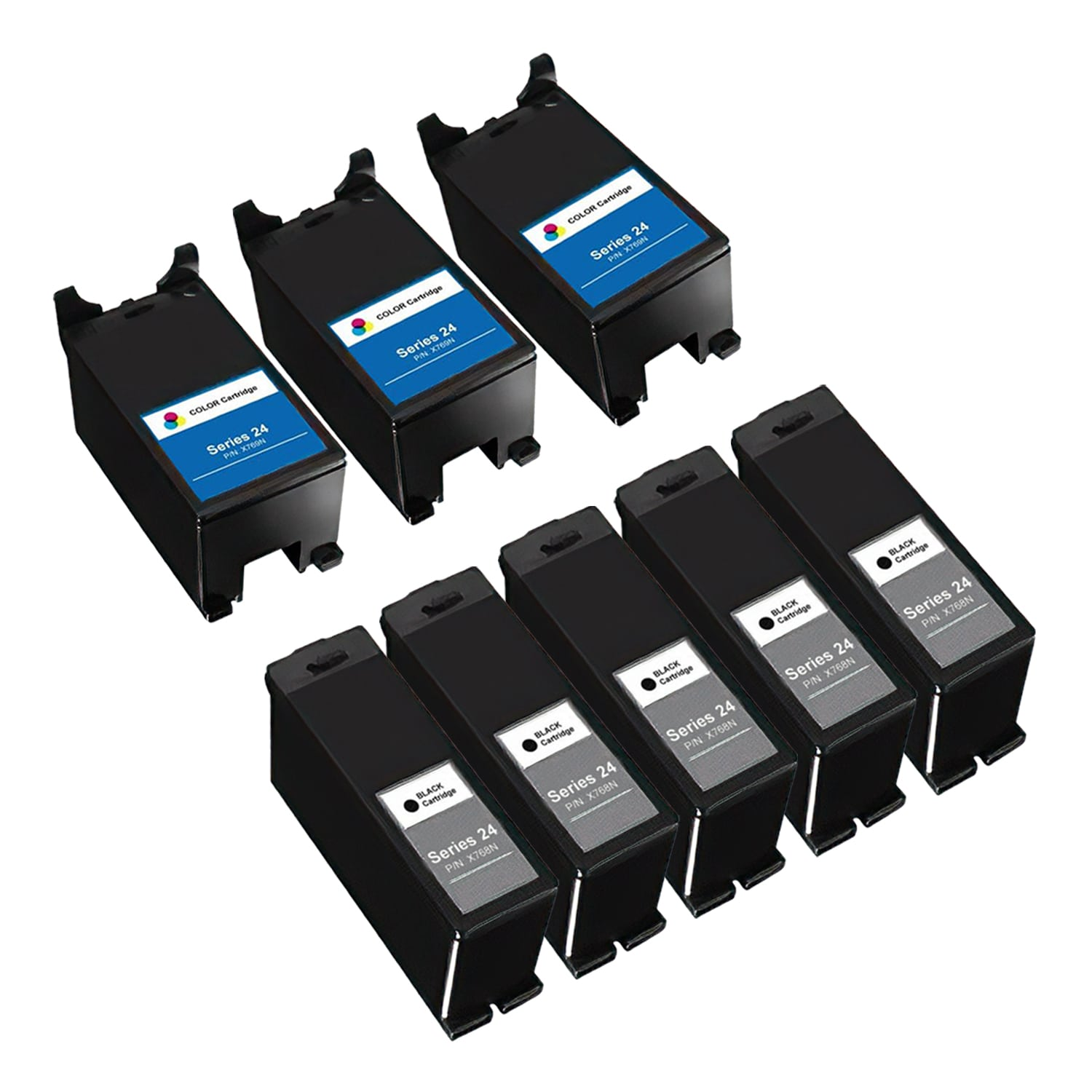 Compatible Dell Series 24 Inkjet High Capacity Pack - 8 Cartridges