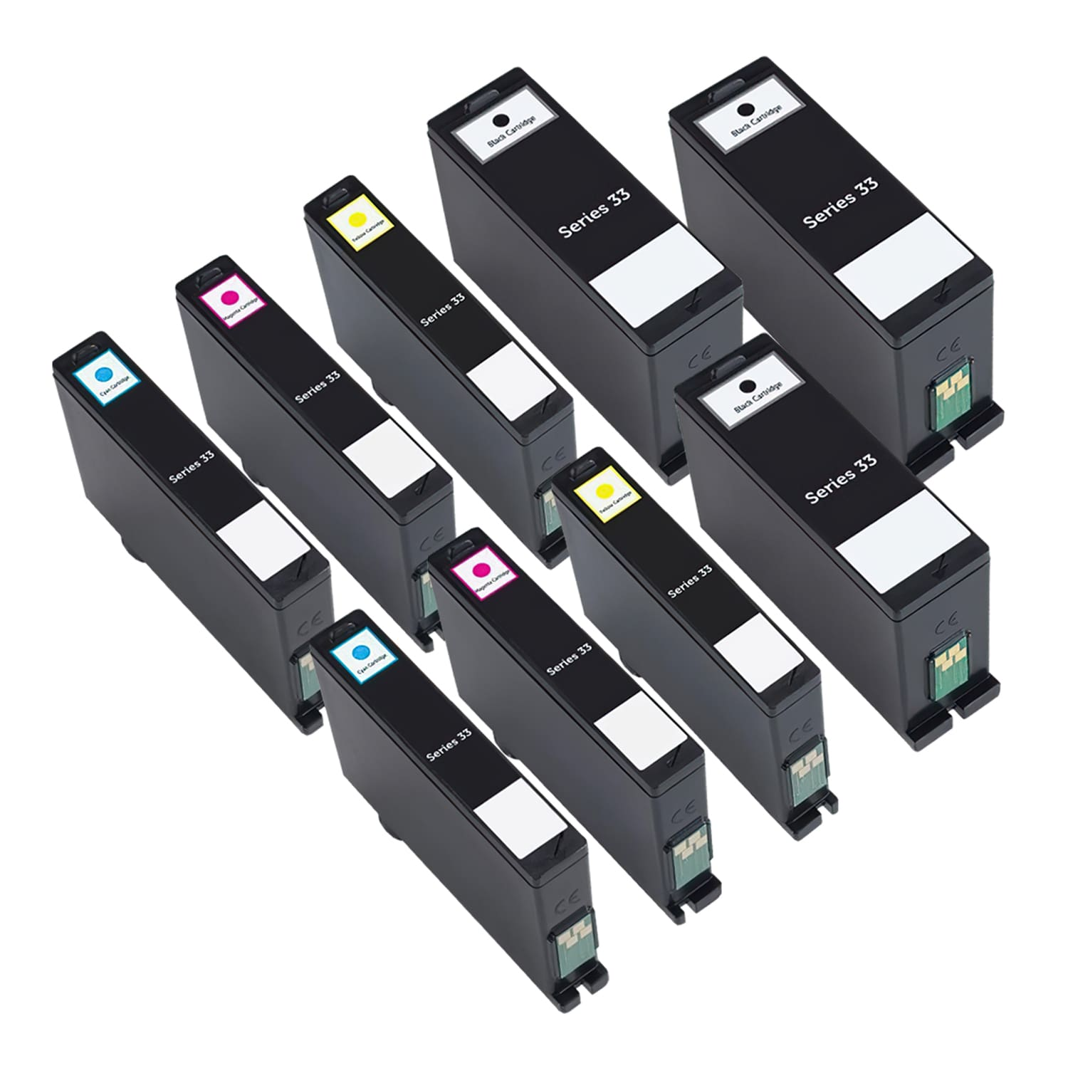 Compatible Dell Series 33 Inkjet Extra High Capacity Pack - 9 Cartridges