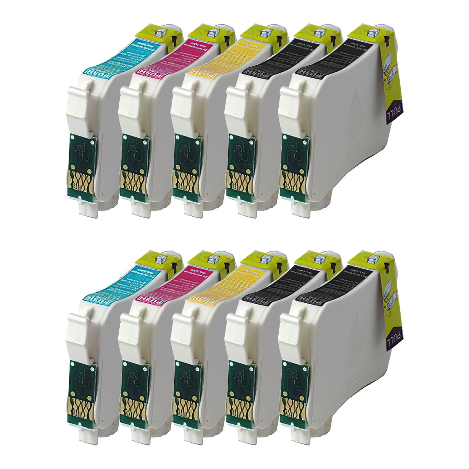 Remanufactured Epson 124 Inkjet Pack - 10 Cartridges