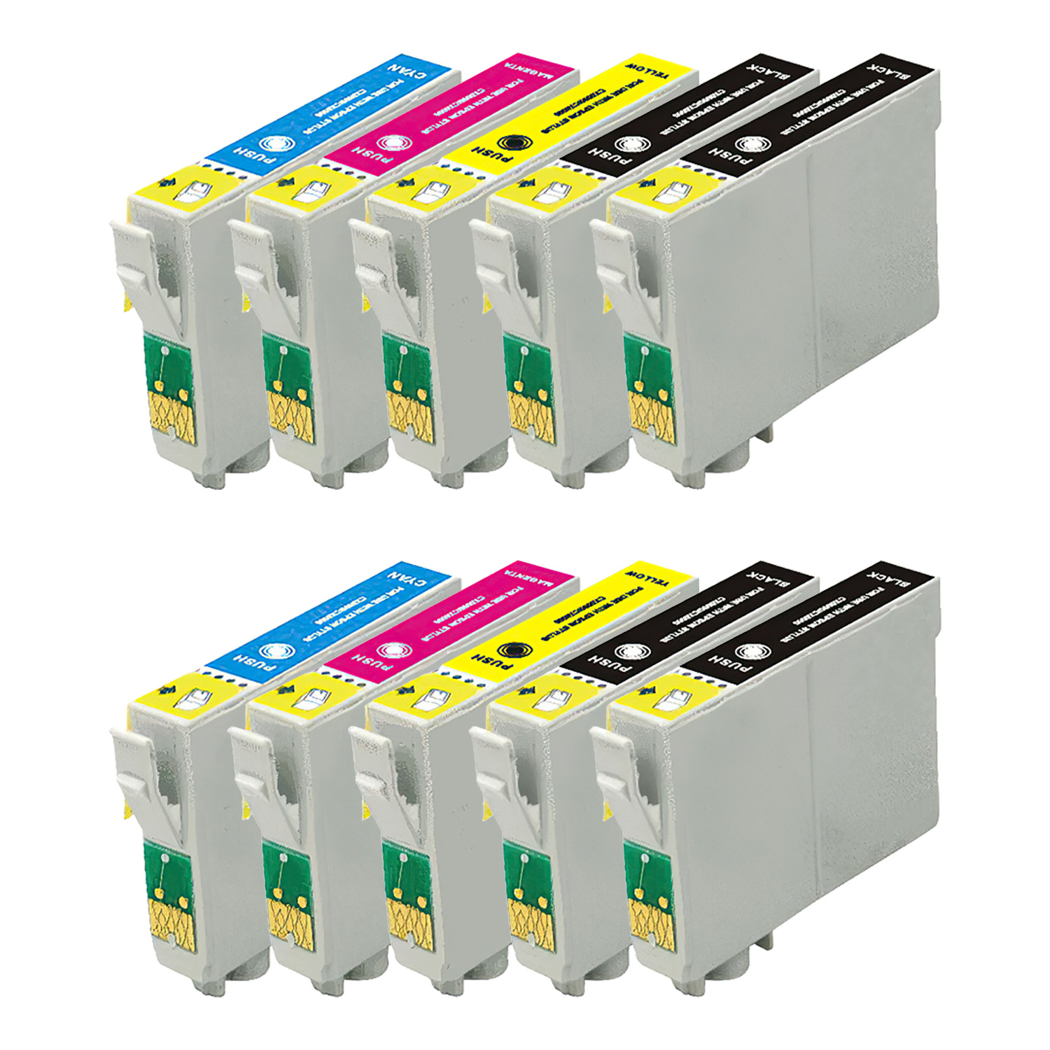 Remanufactured Epson 125 Inkjet High Capacity Pack - 10 Cartridges