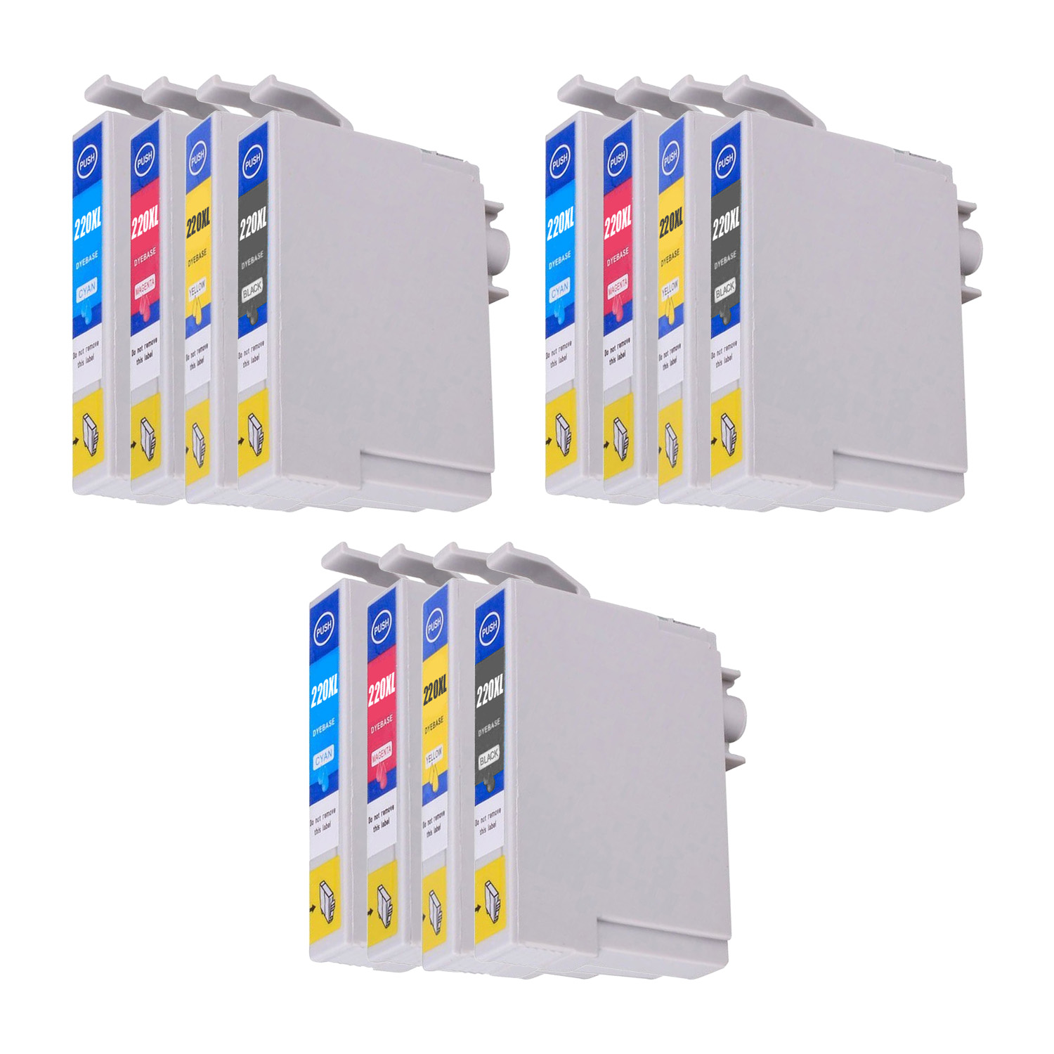 Remanufactured Epson 220XL Inkjet High Capacity Pack - 12 Cartridges