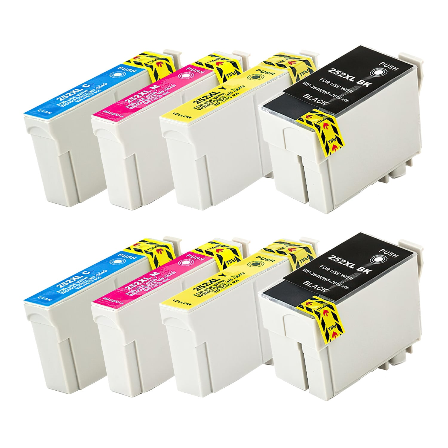 Remanufactured Epson 252XL Inkjet High Capacity Pack - 8 Cartridges