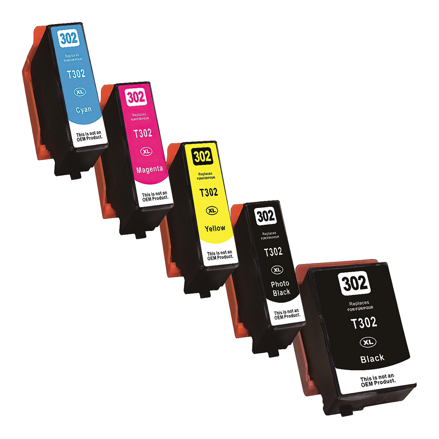 Remanufactured Epson 302XL Inkjet High Capacity Pack - 5 Cartridges