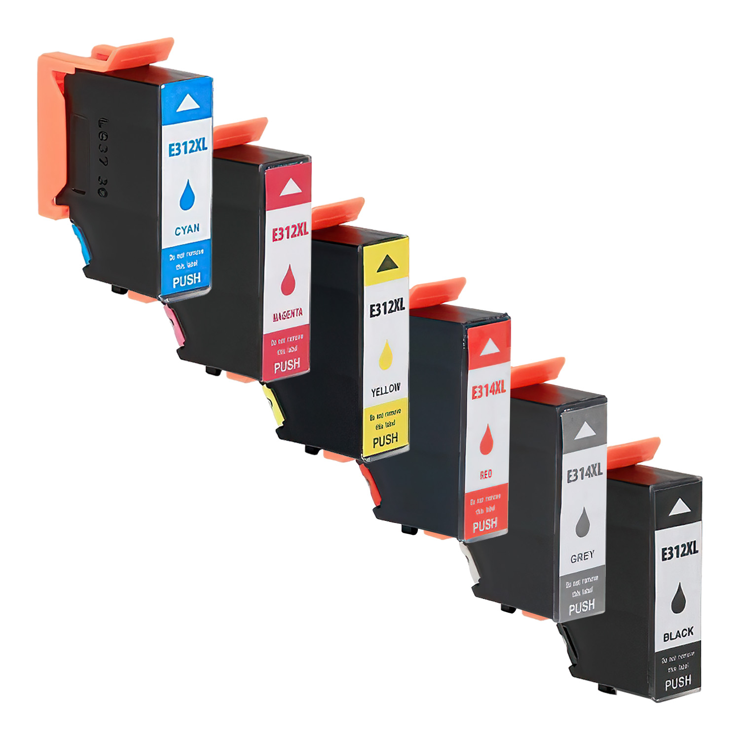 Remanufactured Epson 312XL-314XL Inkjet High Capacity Pack - 6 Cartridges