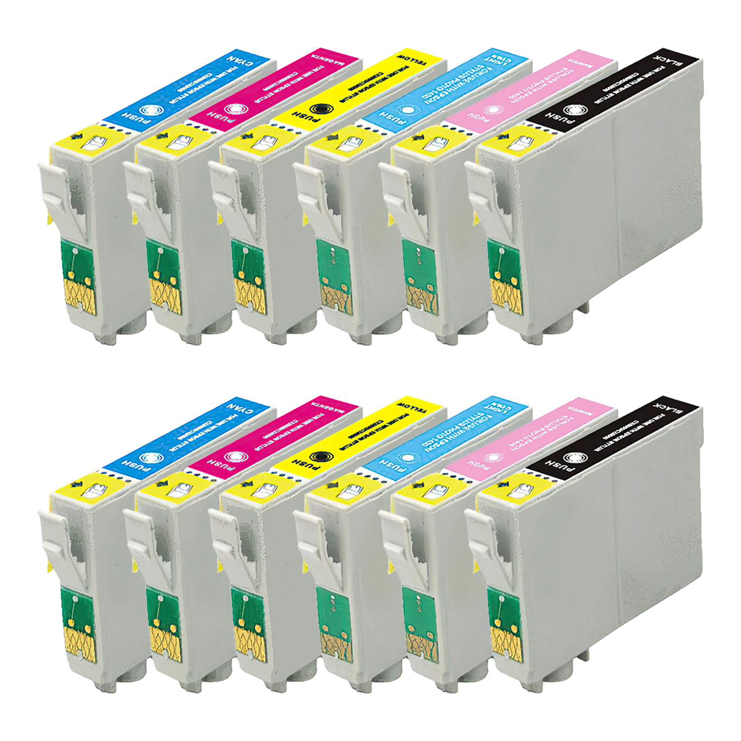 Remanufactured Epson 33 Inkjet Pack - 12 Cartridges