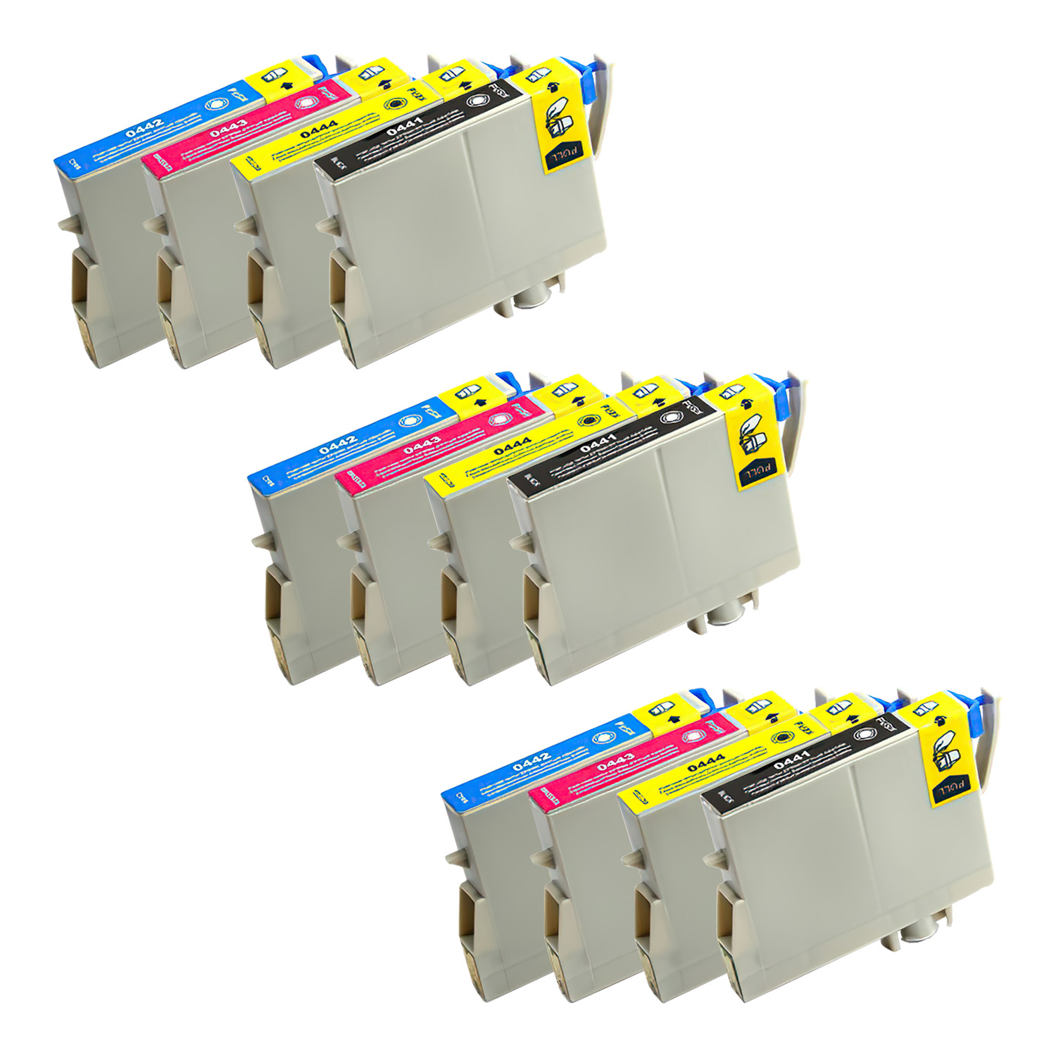 Remanufactured Epson 44 Inkjet Pack - 12 Cartridges