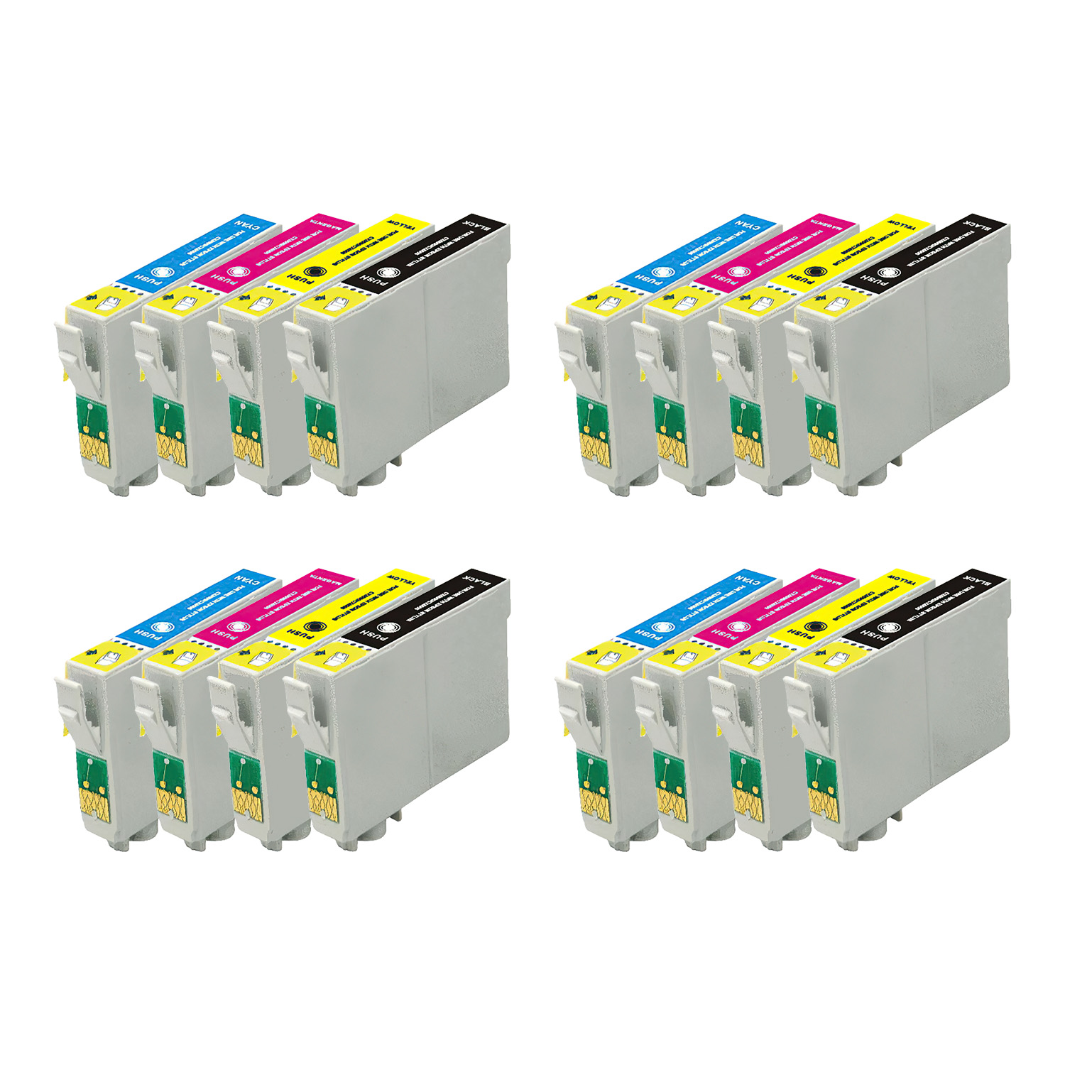 Remanufactured Epson 68 Inkjet High Capacity Pack - 16 Cartridges