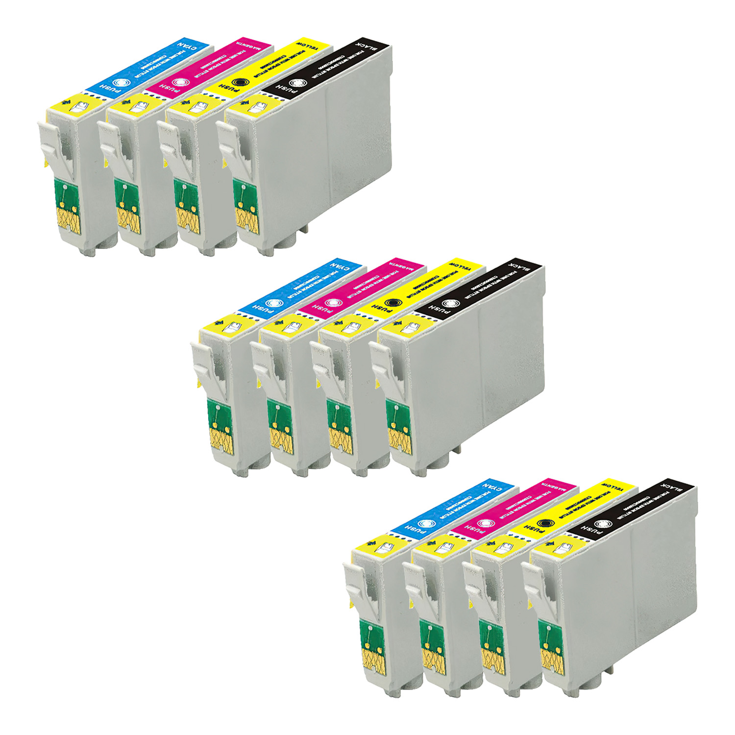 Remanufactured Epson 68-97 Inkjet Extra High Capacity Pack - 12 Cartridges
