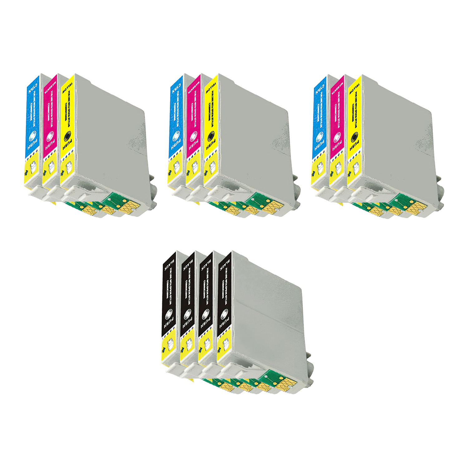 Remanufactured Epson 69-68 Inkjet High Capacity Pack - 13 Cartridges