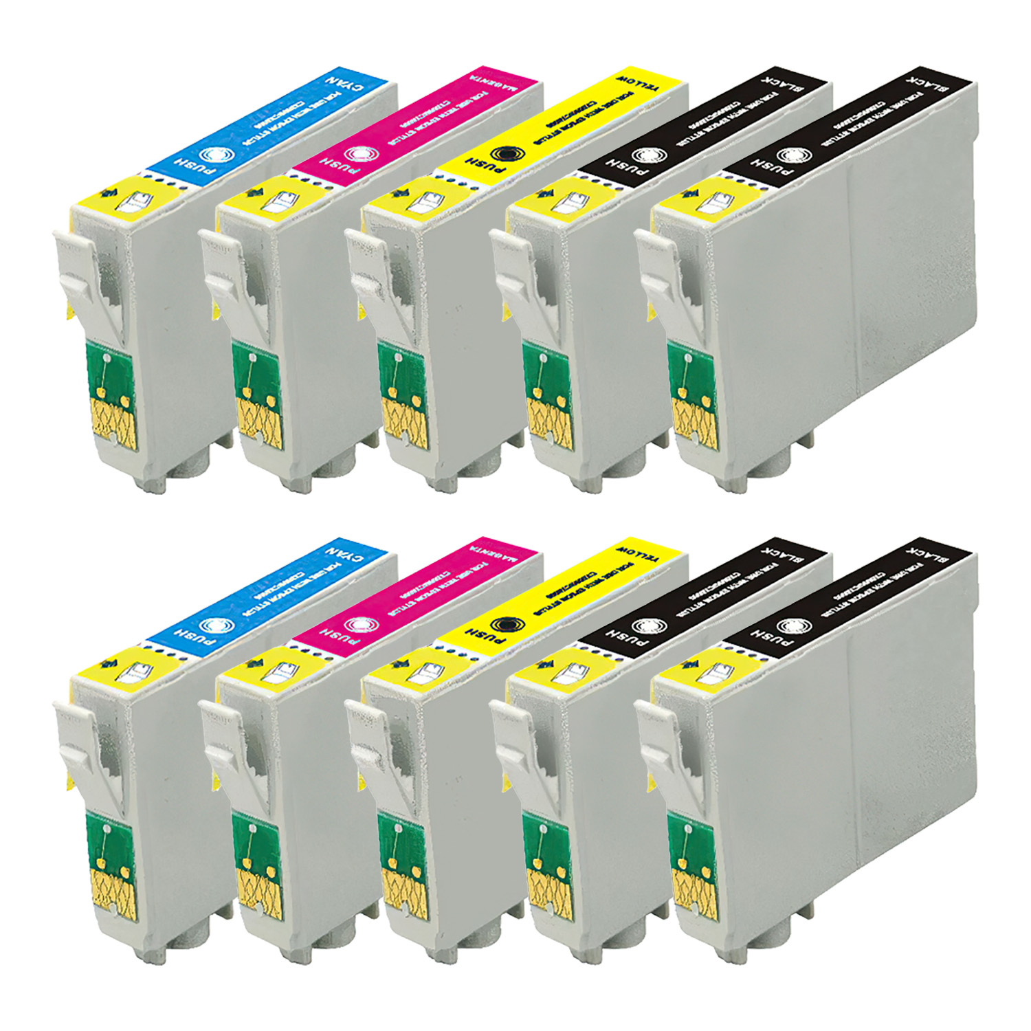 Remanufactured Epson 69 Inkjet Pack - 10 Cartridges