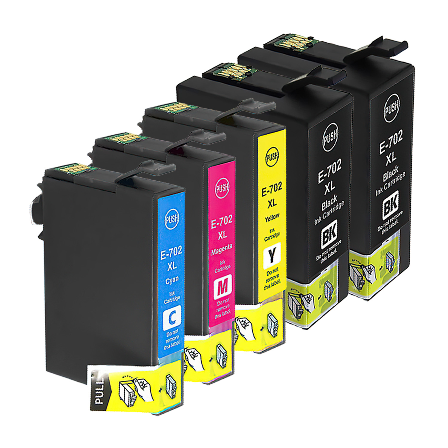 Compatible Epson 702XL Inkjet High Capacity Pack - 5 Cartridges