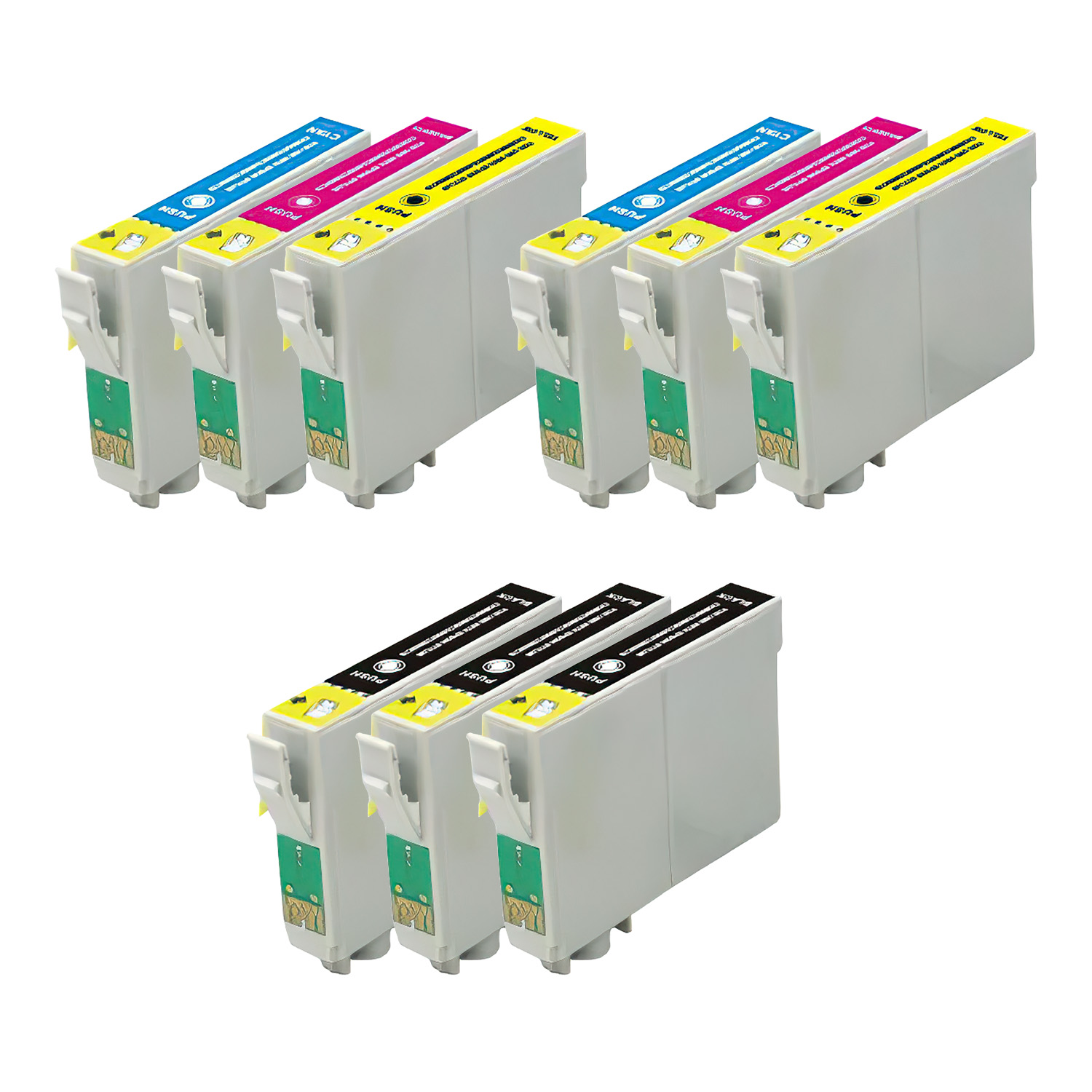 Remanufactured Epson 73 Inkjet Pack - 9 Cartridges