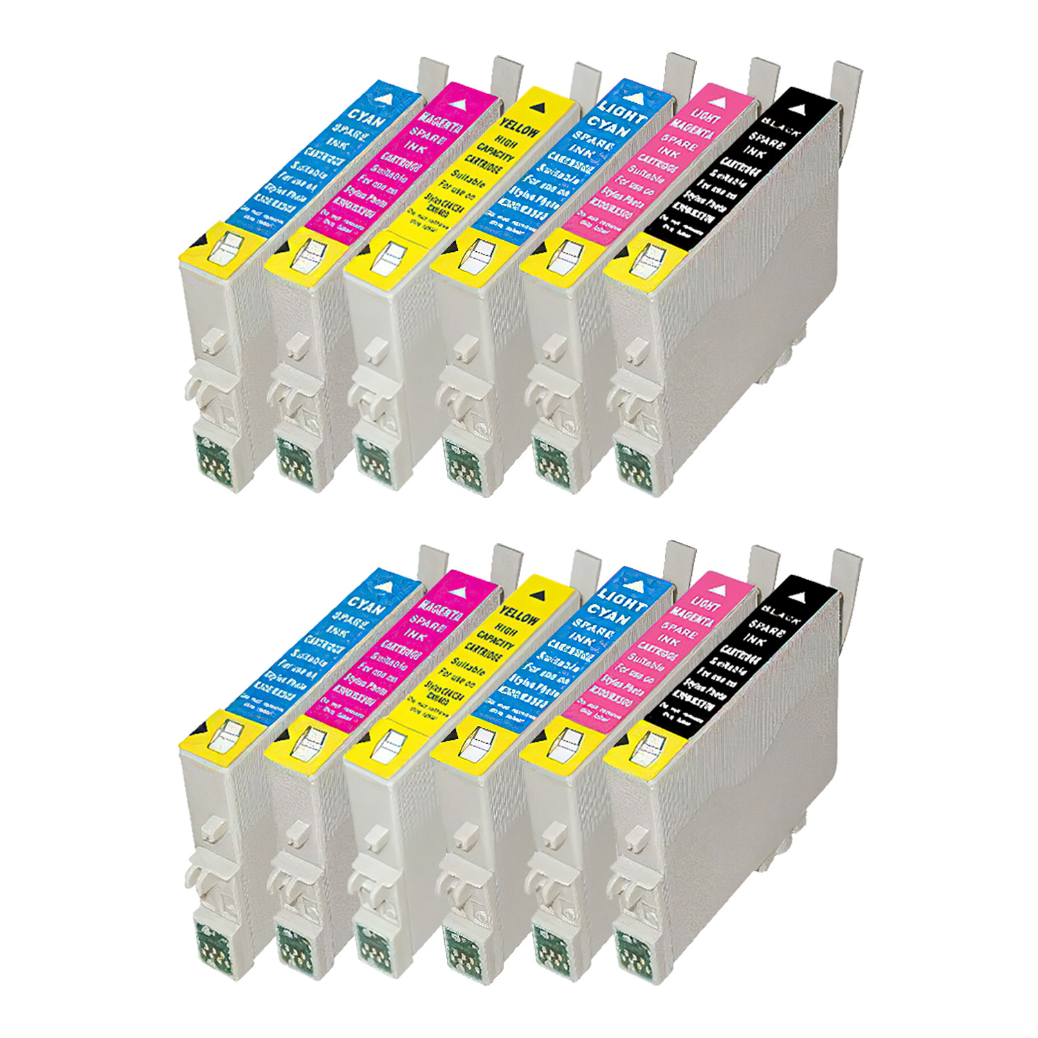 Remanufactured Epson 99-98 Inkjet High Capacity Pack - 12 Cartridges