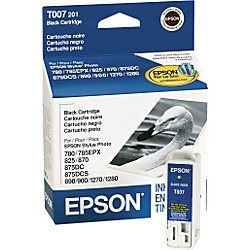 T007201 Ink Cartridge - Epson Genuine OEM (Black)