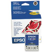 T008201 Ink Cartridge - Epson Genuine OEM (Color)