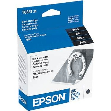 T033120 Ink Cartridge - Epson Genuine OEM (Black)
