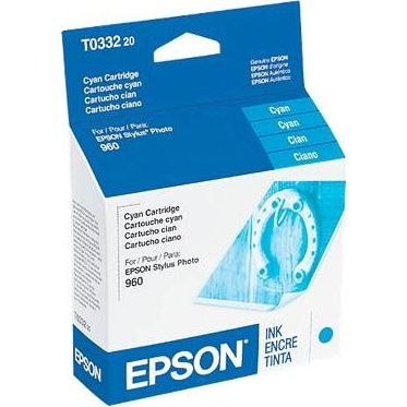 Genuine Epson T033220 Cyan Ink Cartridge