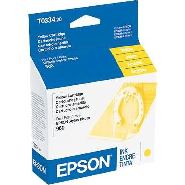 T033420 Ink Cartridge - Epson Genuine OEM (Yellow)
