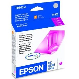 T060320 Ink Cartridge - Epson Genuine OEM (Magenta)