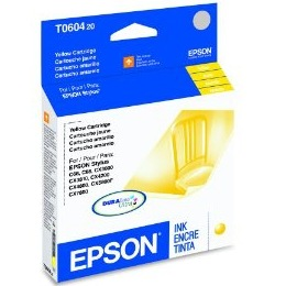 T060420 Ink Cartridge - Epson Genuine OEM (Yellow)