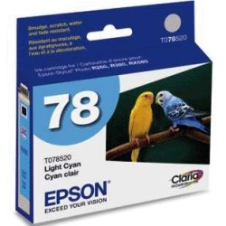 T078520 Ink Cartridge - Epson Genuine OEM (Light Cyan)