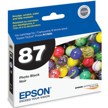 Genuine Epson T087120 Photo Black Ink Cartridge