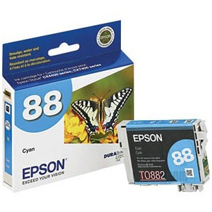 T088220 Ink Cartridge - Epson Genuine OEM (Cyan)