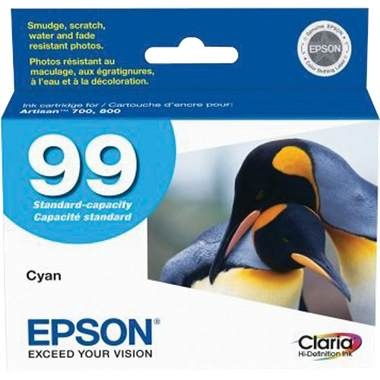 T099220 Ink Cartridge - Epson Genuine OEM (Cyan)