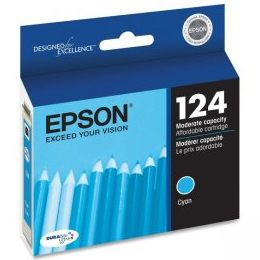 T124220 Ink Cartridge - Epson Genuine OEM (Cyan)