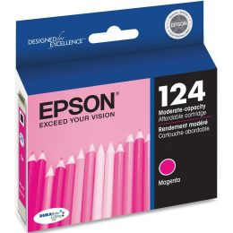 T124320 Ink Cartridge - Epson Genuine OEM (Magenta)