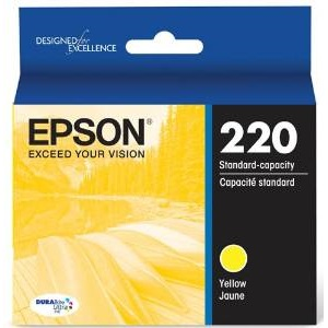 T220420 Ink Cartridge - Epson Genuine OEM (Yellow)