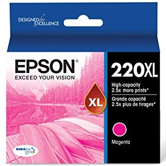 T220XL320 Ink Cartridge - Epson Genuine OEM (Magenta)